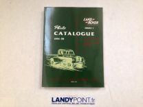 4107 - Catalogue des Pièces - Séries 1 - 1954-58 - Land Rover Séries