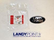 "DAG500160 - Plastic Oval ""Land Rover"" Name Plate - Black & Silver - Genuine - Range Rover L322 / Range Rover Sport"