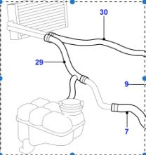 JHC100420 - Heater Hose - Expansion Tank To Radiator - V8 4.0/4.6 - Range Rover P38