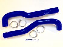 LRT724BLUE - Silicone Intercooler Hose Kit - Defender TD4 2.4 Puma